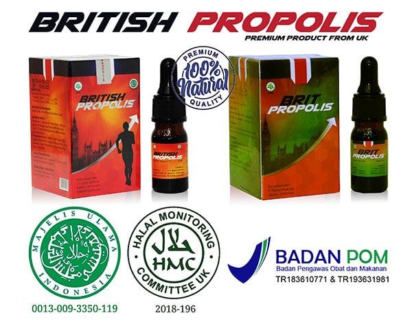 Sertifikasi BPOM & MUI British Propolis